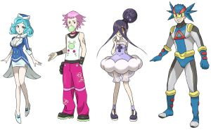 other 4 GYM LEADERS by Nyjee