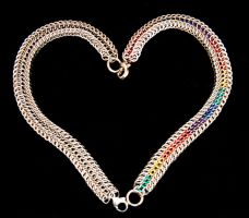 Two Bracelets, One Heart by chainmaille