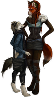 Collab: Ren and Lillith by Dakikr