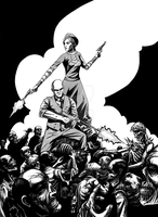Bonnie and Clyde vs zombies by cadaverperception