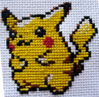 Pikachu: Cross Stitch by Nickle4aPickle