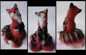 Windstone Editions pyo Kitsune Red Fox by Silverliger
