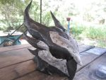 Finished daedric helmet (front right) by shanesinsane