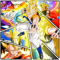 Gogeta Collage by VaporizedDesigns