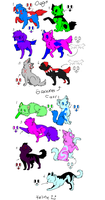 FREE dog or wolf and cat adopts! by hearthekitty
