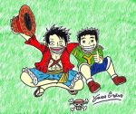 Luffy And Me by Geilozer