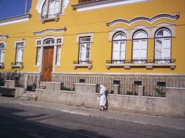 Yellow house and the nun. by Lanth