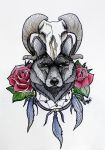 Tattoo Wolf by MaryMaryLP