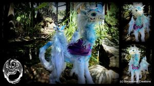 Elsa Frozen Dragon - Handmade OOAK Poseable- SOLD by SonsationalCreations