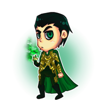 Chibi Loki for skybluespirit by nupao