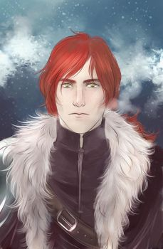 Commission with red haired young man by Everybery