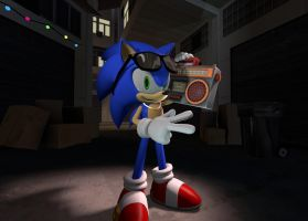Boombox Sonic by TheRiverKruse