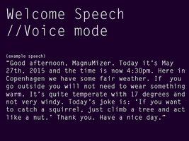 Welcome Speech (Audio only) by themagnumizer