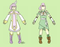 Colored-Persephone outfits by pumpkincookie