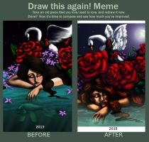 Meme- before and after- in memory by musicalartfreak