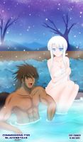 Commission: Akira and Hitoshi in Onsen by The-Sinnerz
