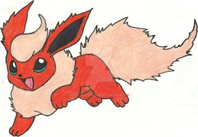 Flareon Sketch, Redone (Coloured) by CoolMan666