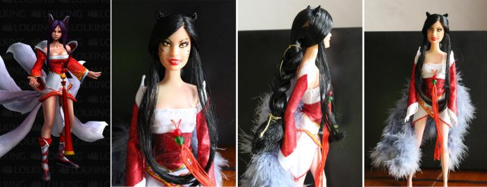 repaint barbie: Ahri from League of Legends by sharrm