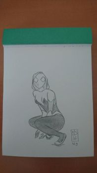 sketch 029: spider-gwen by moutonshield