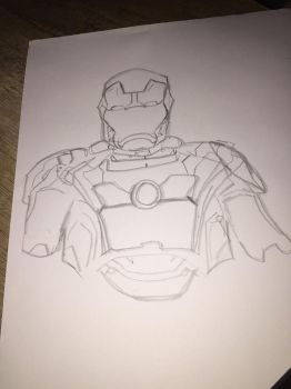 Iron Man Sketch by alaskanox