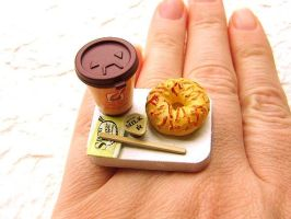 Coffee To Go Bagel Ring by souzoucreations
