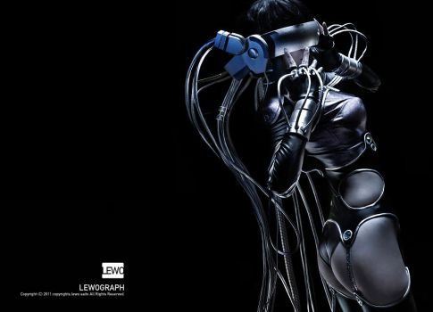 Ghost in the shell by LEWOGRAPH