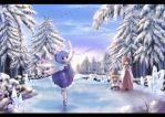 Cirno on the ice by Harukim