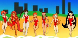 Cartoon Baywatch by Swinbop