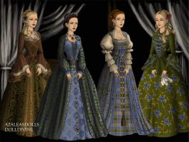four ladies by abehs