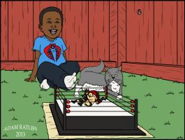 Backyard Wrestling by brianbuster