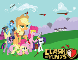Clash of Pony by moonred4000