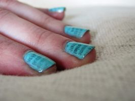 newsprint nails 1 TUTORIAL by hellohappycrafts