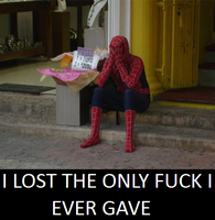 Sad spiderman by palaeorigamipete
