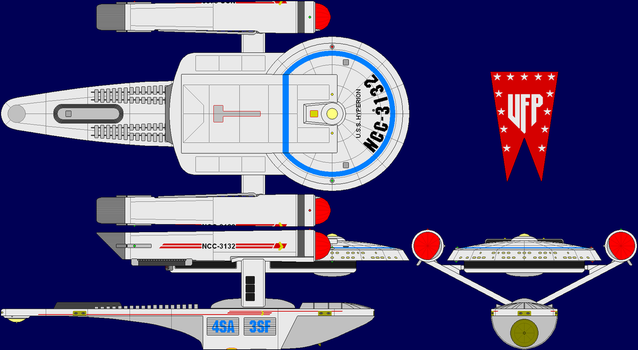 USS Hyperion Multi-View by captshade