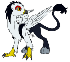 Black-Shouldered Kite Gryphon by ZenAquariaPony