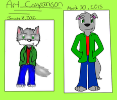 Jake the dolf (2012 January 18) Art Comparison by SillyWolfMan