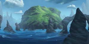 sea cliff study by Ullbors