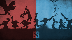 Dota 2 5v5 - Red vs Blue by dcneil