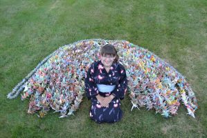 3000 Paper Cranes by Singing-Wolf-12