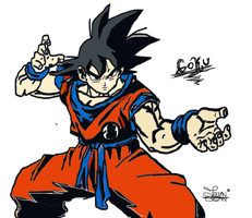 Son Goku Render Extraction Png By Tatty Bojang by jazz003