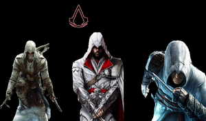 Assassins creed wallpaper The Assassin's by psycho-zombie