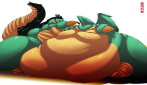 Munghorn Comission - Fatties 2 by saintdraconis