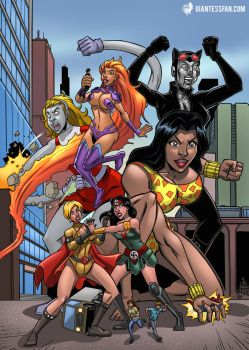 Giantess Invasion From Infinite Earths by giantess-fan-comics