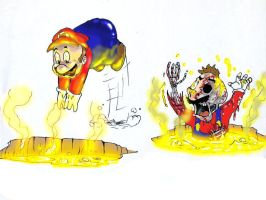 Mario Learns the Hard Way by nenerocks