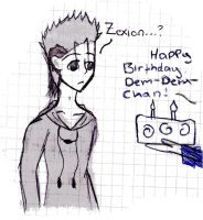 .: Happy Birthday Demyx :. by Deidara1000