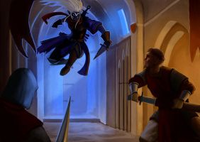 drow attack by marcbornhoeft