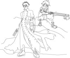 Kingdom Hearts : TRIGUN by DeathscytheVII