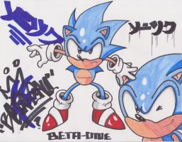 Sonic CD Traditional Pose by 1BetaOne