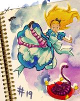 Day 19: Alice and Cheshire Cat by cynthiafranca