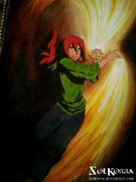 Sun Fire Bender Traditional Draw OC by SolKorra